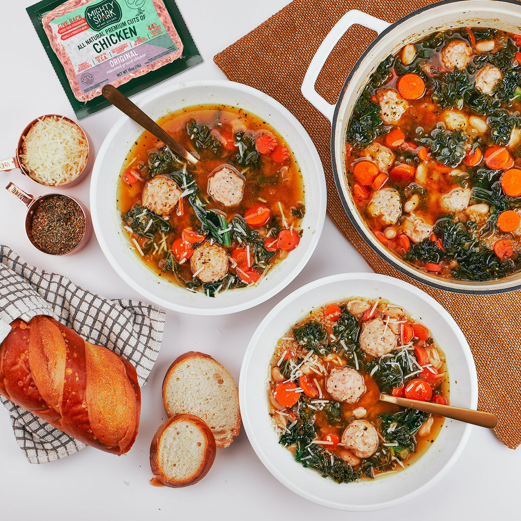 'LIGHTENED' CHICKEN ITALIAN WEDDING SOUP