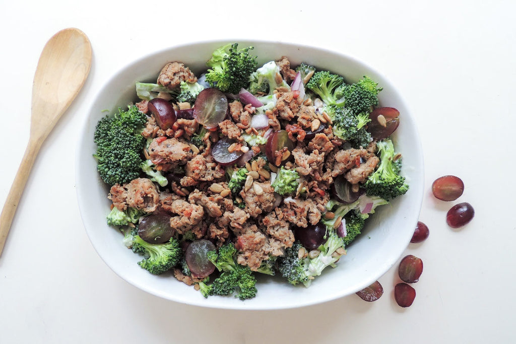 GROUND CHICKEN & BROCCOLI GRAPE SALAD