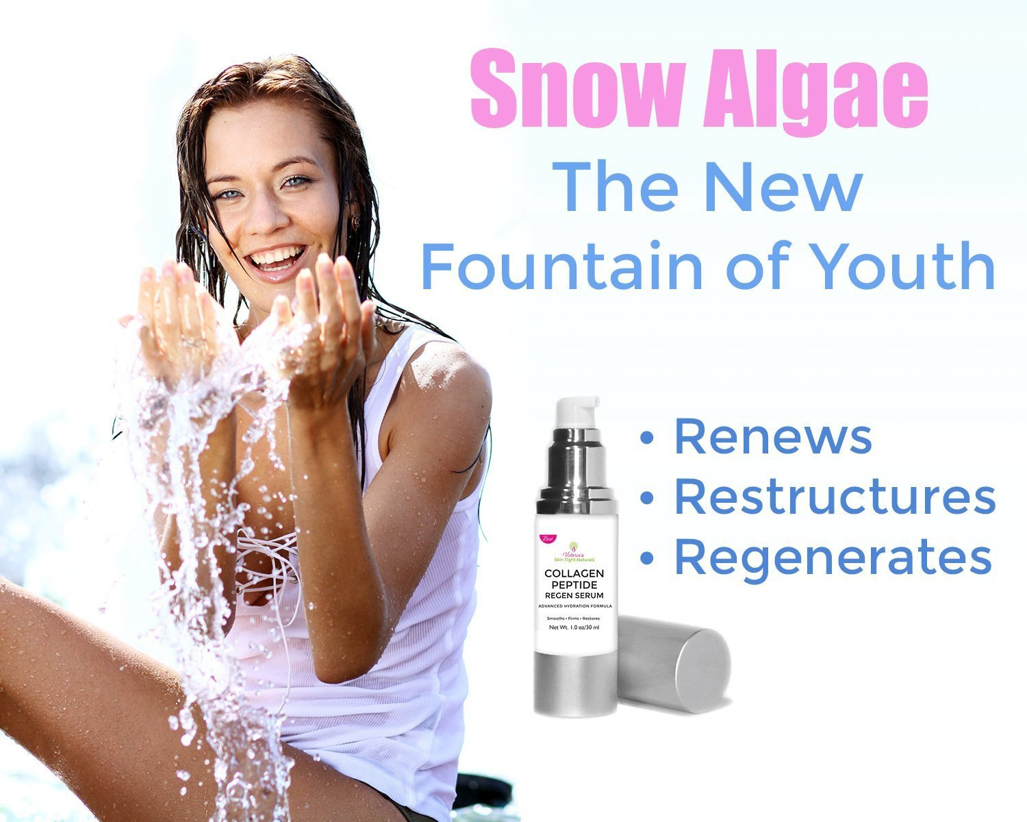 sow algae and collagen peptides skin tightening