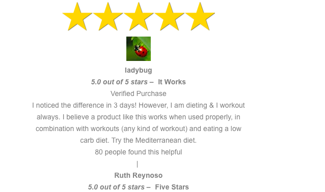 5 star review cellulite oil