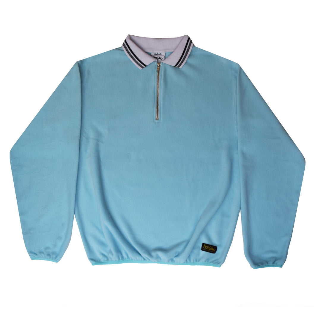 Blue Relaxed Zip Sweatshirt