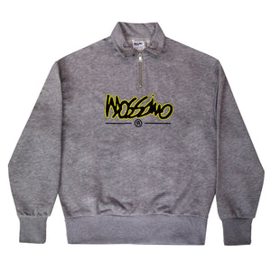 Relaxed Funnel Zip Sweatshirt - Grey - Mossimo Authentic