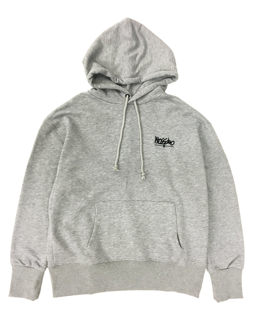 Relaxed Embroidered Back Hoodie  - Grey