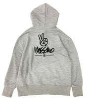 Load image into Gallery viewer, Relaxed Embroidered Back Hoodie  - Grey