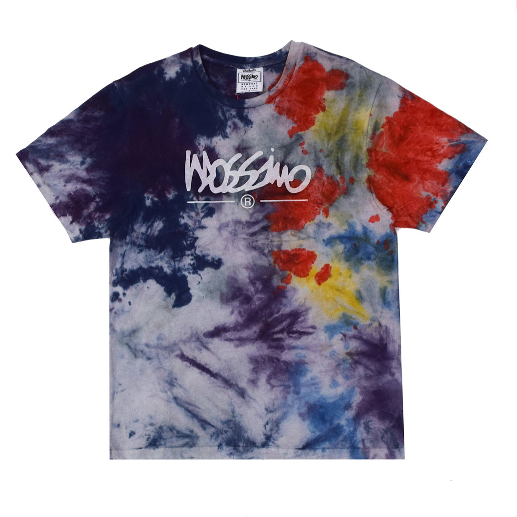 Blue Tie Dye Logo T-shirt - Mossimo Authentic
