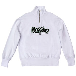 Relaxed Funnel Zip Sweatshirt - White - Mossimo Authentic