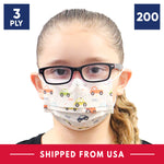 3-Ply Disposable Children Protective Face Mask - 4 Boxes - 200 Masks