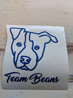 Team Beans Vinyl Decal Fundraiser - Paw Prints Screen Printing