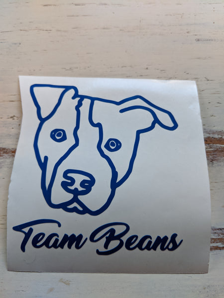Team Beans Vinyl Decal Fundraiser