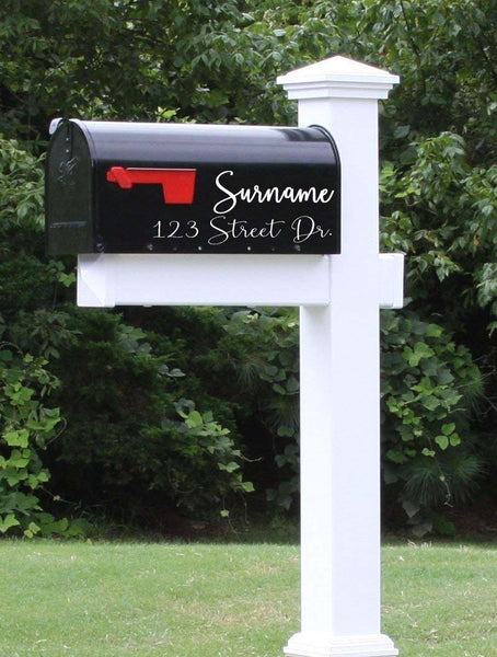 Vinyl Decal for Mailbox Name and Address
