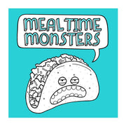 Mealtime Monsters Coloring Book + Colored Pencils