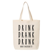 Drink Drank Drunk Canvas Tote