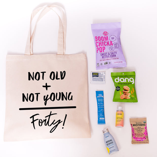 Not Old Not Young Canvas Tote online