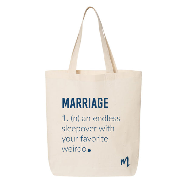 Marriage Canvas Tote