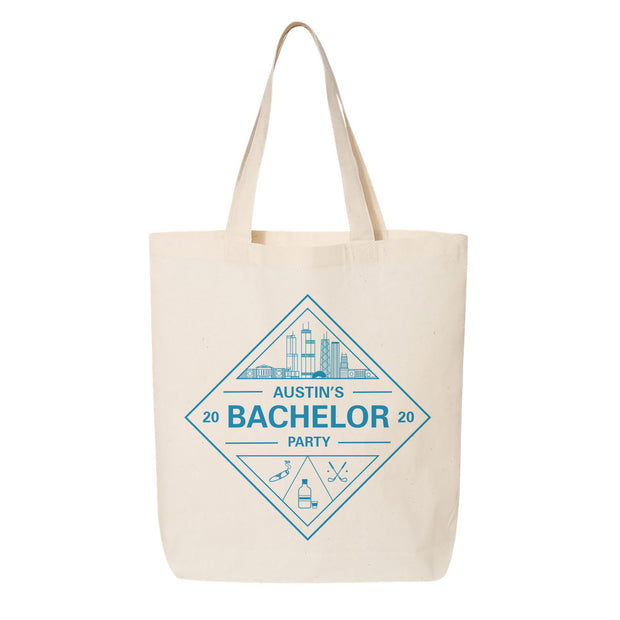 Chicago Skyline Bachelor Canvas Tote