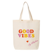 Good Vibes  Canvas Tote for wedding gifts