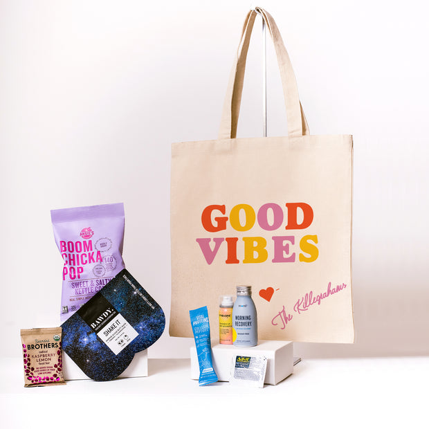 Good Vibes Canvas Tote fully customizable tote online
