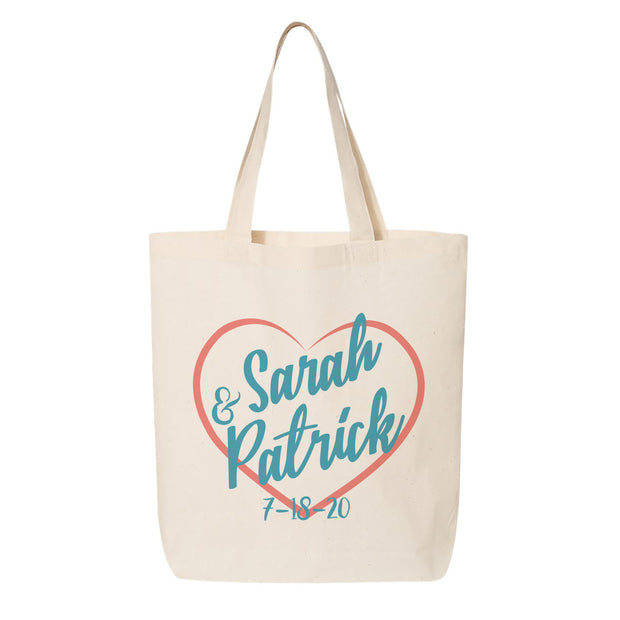 Heart Signature Canvas Tote perfect for wedding gifts