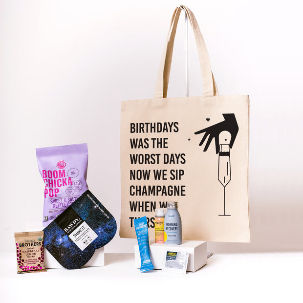 Birthdays Was The Worst Days Canvas Tote