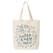 Hello Baby Boy Canvas Tote