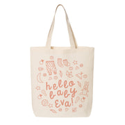 Hello Baby Girl Canvas Tote