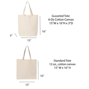 Mountain Chic Canvas Tote