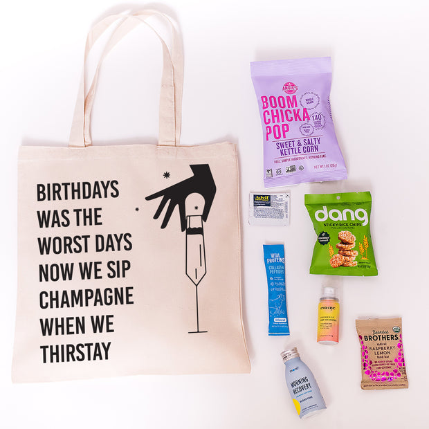 Shop Birthdays Was The Worst Days Canvas Tote