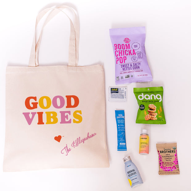 Good Vibes Canvas Tote online