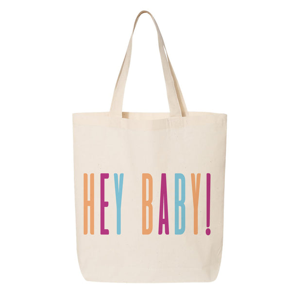Buy Hey Baby Canvas Tote online for baby shower
