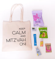 Keep Calm and Mitzvah On Canvas Tote online