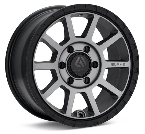 FOXTROT 17X7.5 5X108 +35 LIGHT GREY / BLACK LIP / AF1775510835LGBL