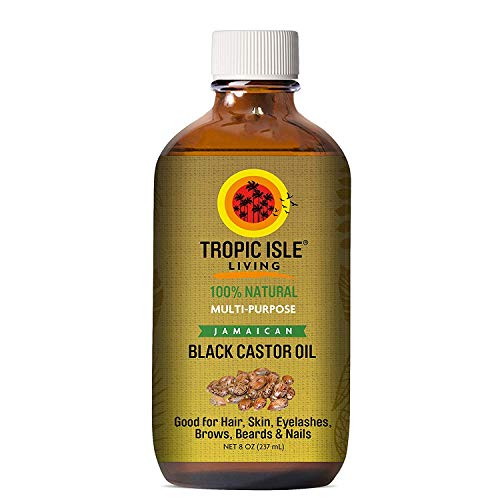 Tropic Isle Living Jamaican Black Castor Oil, Glass Bottle (8 Ounce)