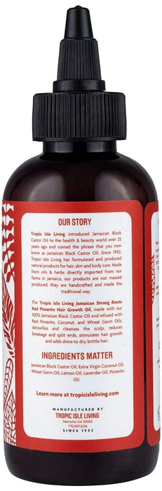 Tropic Isle Living Strong Roots Red Pimento Hair Growth Oil 4oz