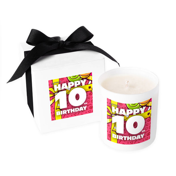 Happy 10th Birthday - 11oz Candle