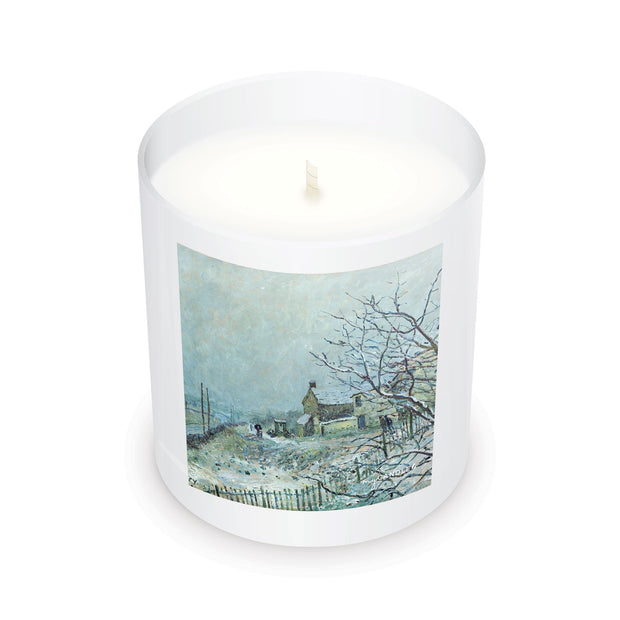 Alfred Sisley First Snow at Veneux-Nadon c.1878 - 11oz Candle