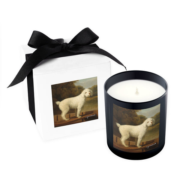 George Stubbs White Poodle in a Punt c.1780 - 11oz Candle