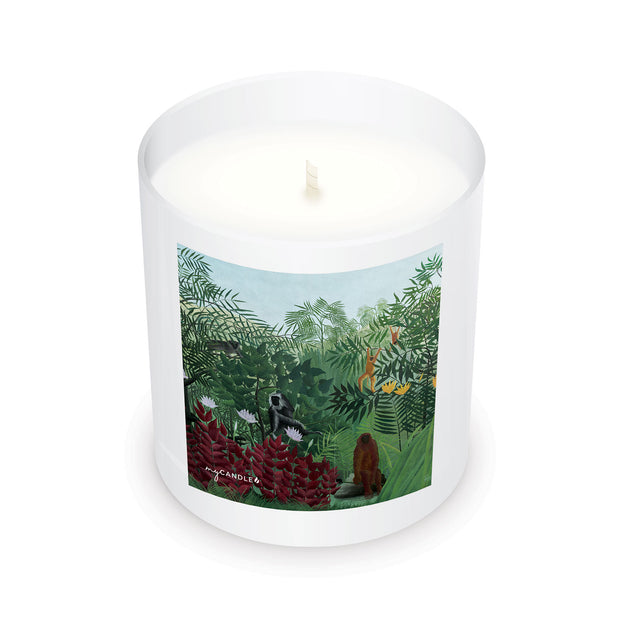 Henri Rousseau Tropical Forest with Monkeys c.1910 - 11oz Candle