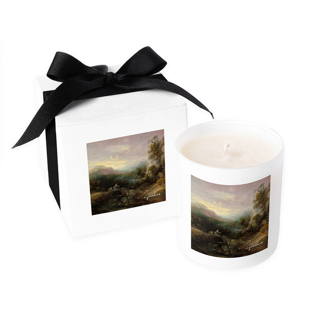 Thomas Gainsborough Mountain Landscape with Bridge c.1783-1784 - 11oz Candle