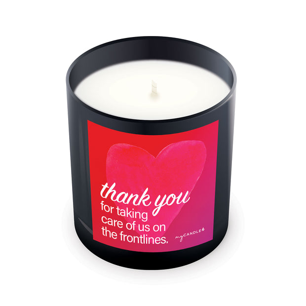 Thank You for Taking Care of Us on the Frontlines - 11oz Candle