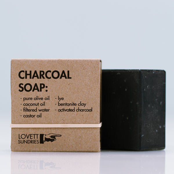 Lovett Sundries Charcoal Soap clarifying for face and body