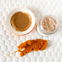Lila Naturals Pumpkin Enzyme Face Mask, Comes in a powder form that you mix yourself with any liquid (water, milk, yogurt). This will give you the longest shelf life and the freshest mask.