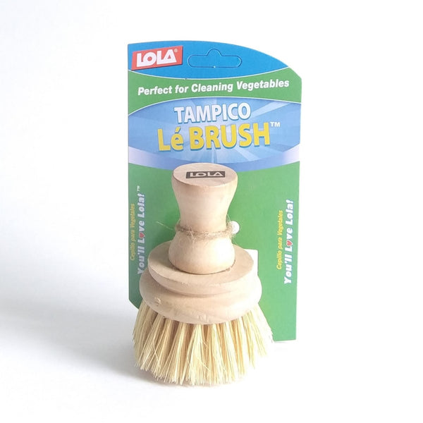 Tampico bristles and birch wood handle, veggie brush - perfect for cleaning vegetables
