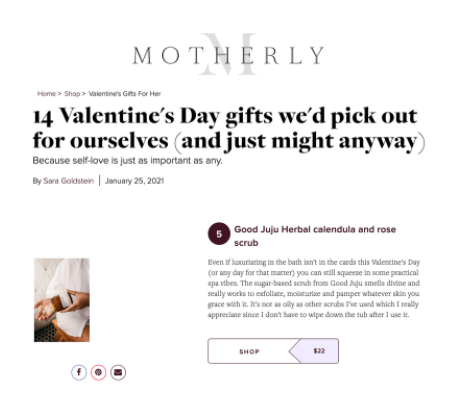 Motherly - Good JuJu Herbal - Mother's Day Gifts - Gifts for Mom