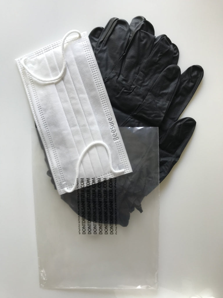 To-Go Pack Daily<br> with Mask and Gloves  Pure Hands PureHands.us DontDrinkSanitizer.com Don't Drink Sanitizer Sanitizer Dont Drink Sanitizer Hand Sanitizer Pure Hands