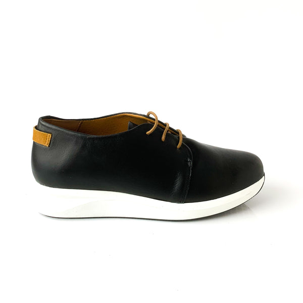 AVA | Black Elevated Runners - TrystShoes