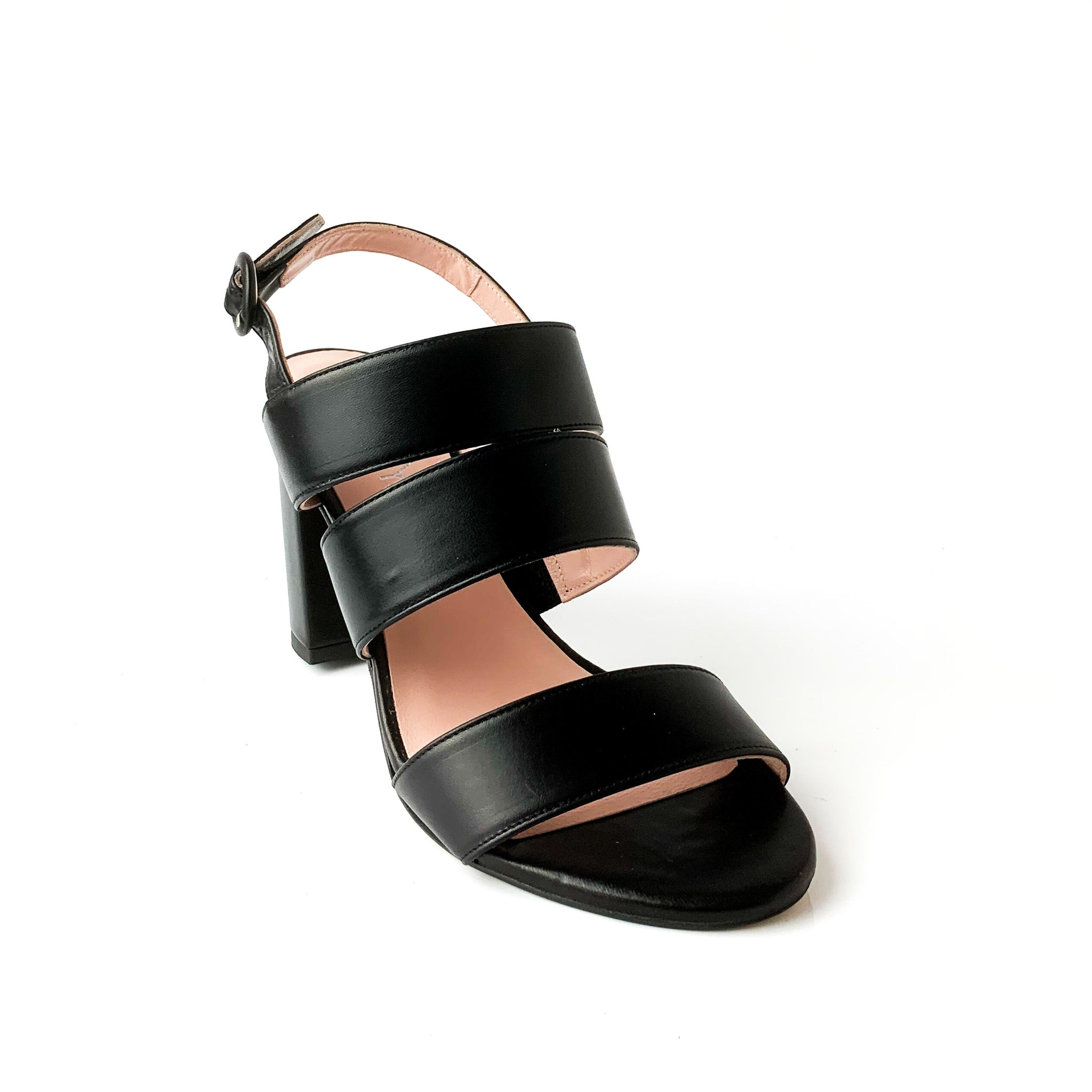 SAM | Black Heeled Sandals - TrystShoes