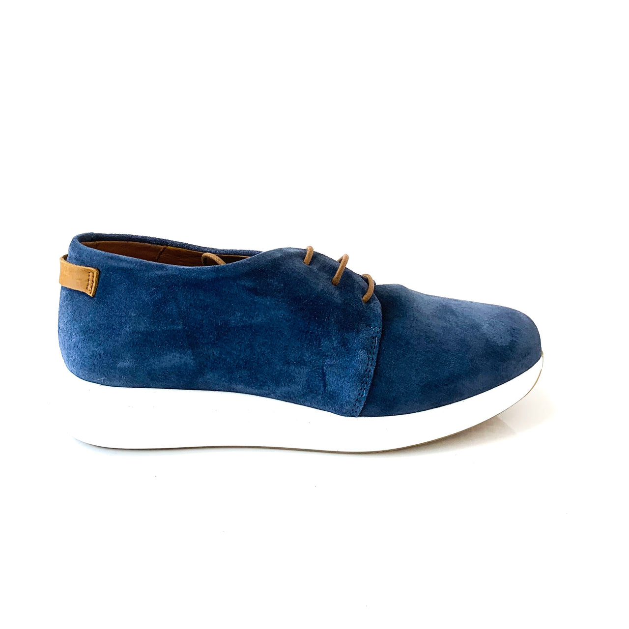 ALEX | Blue Suede Elevated Runners - TrystShoes