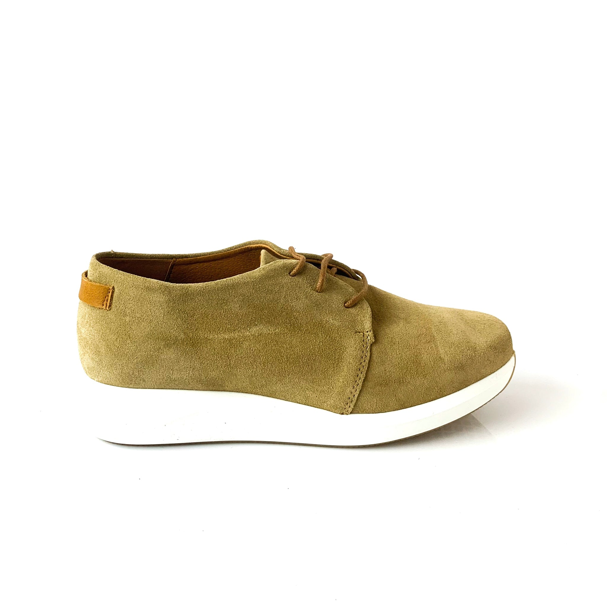 NICOLA | Beige Suede Elevated Runners - TrystShoes