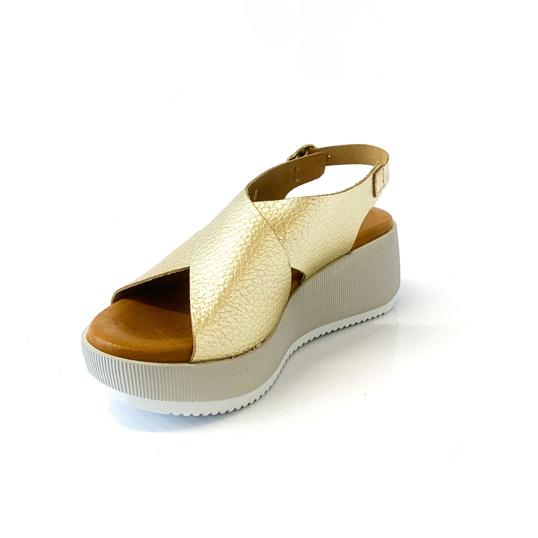 SALLY | Gold Platform Sandals - TrystShoes