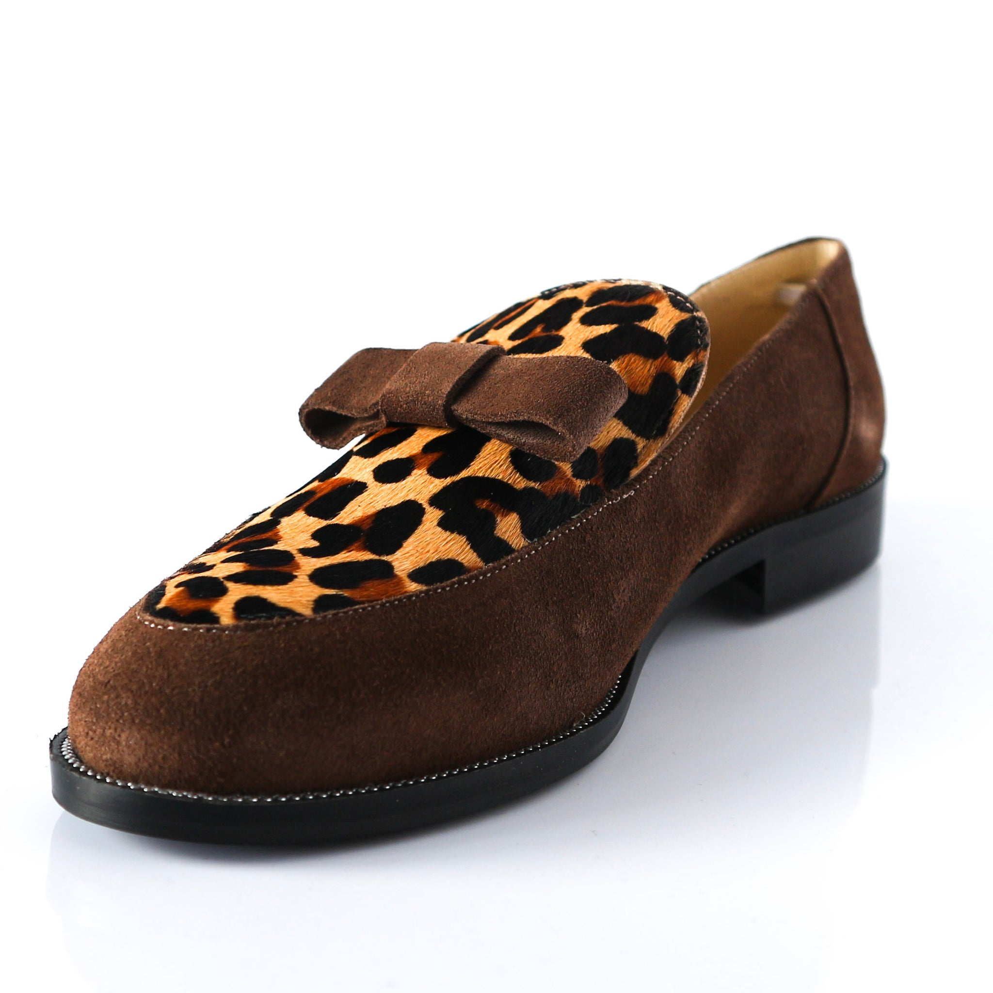 PANTHER | Leopard Dotted Flats - TrystShoes